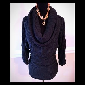 WHBM cowl neck sweater(necklace not included)